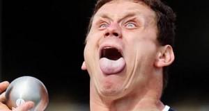 Quand les sportifs font la grimace...