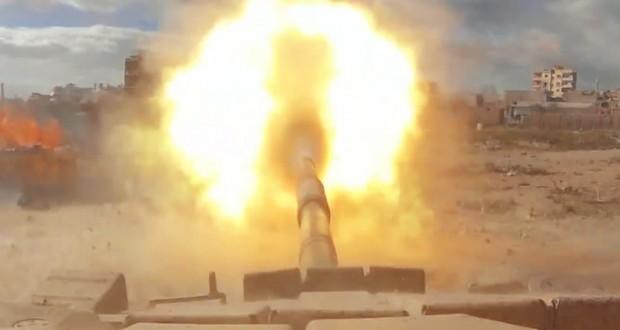 [Vidéo] Une GoPro montée sur un tank en pleine bataille