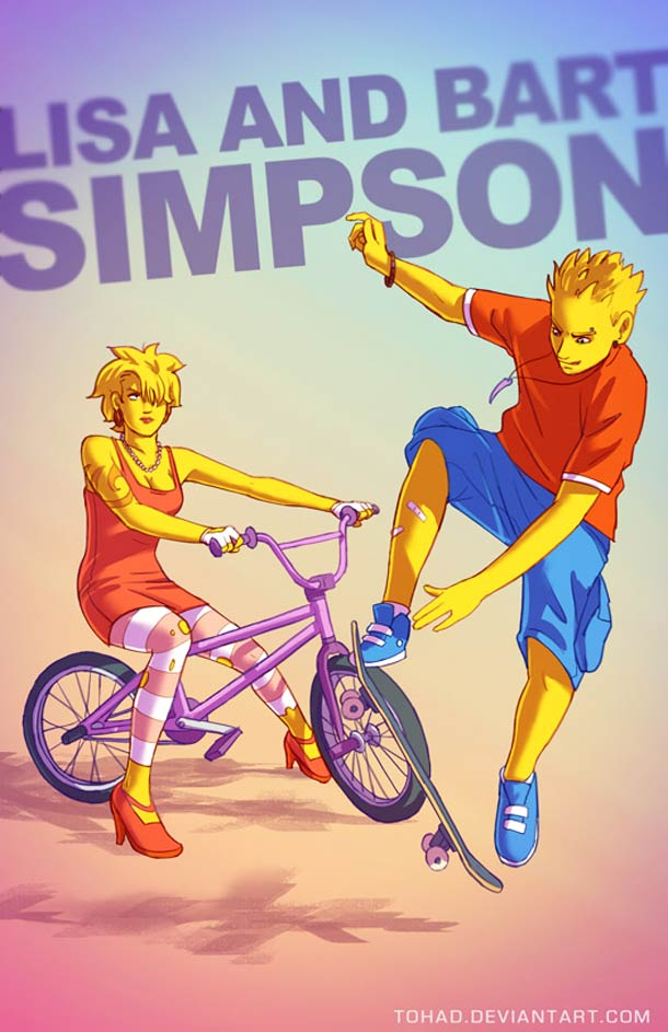 Lisa et Bart Simpson