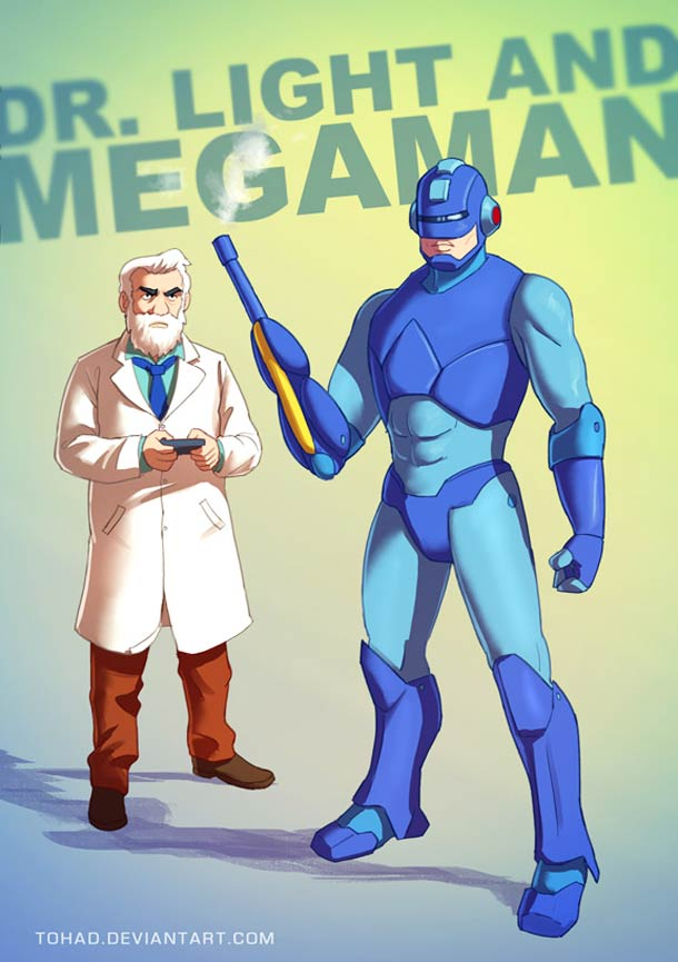 Megaman et Dr. Light