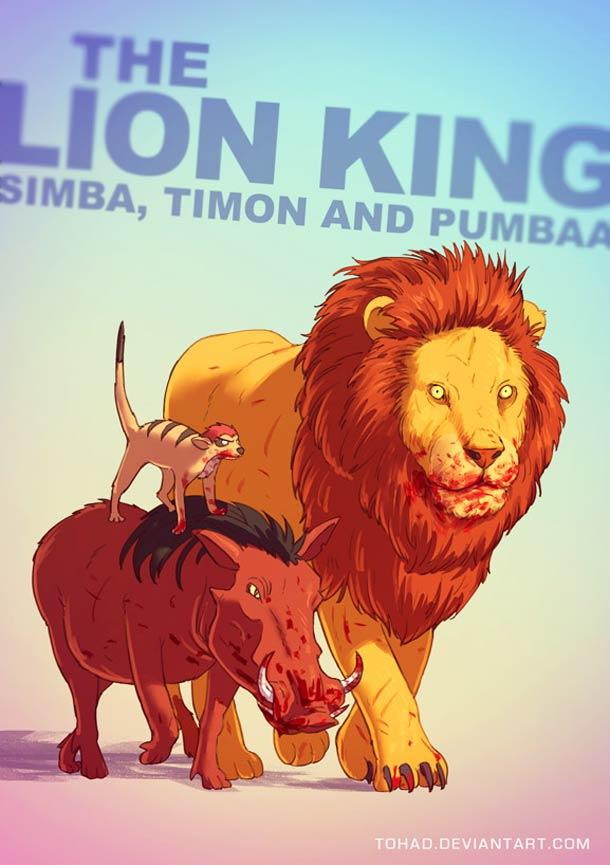 Simba, Timon et Pumba du Roi Lion