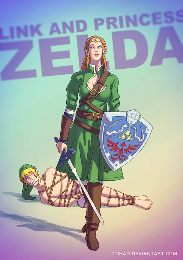 Link et la princesse Zelda