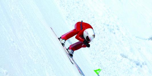 Record : Flashé à 252km/h sur des skis
