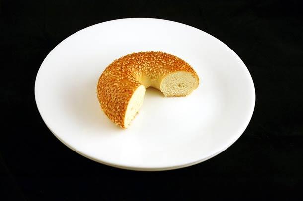 70 grammes de bagel aux graines de sésame