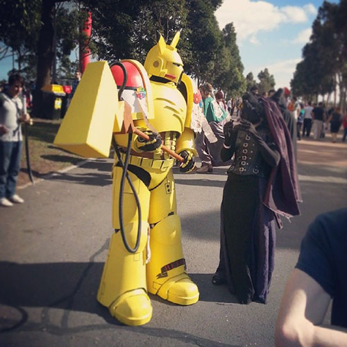 Pikachu version Space Marine !