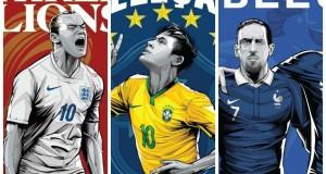 Coupe du monde 2014 : les 32 équipes ont leur poster