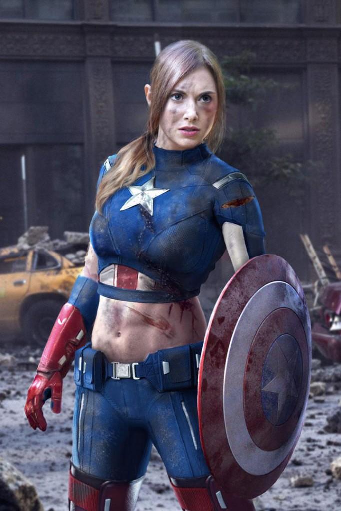 Alison Brie / Captain America