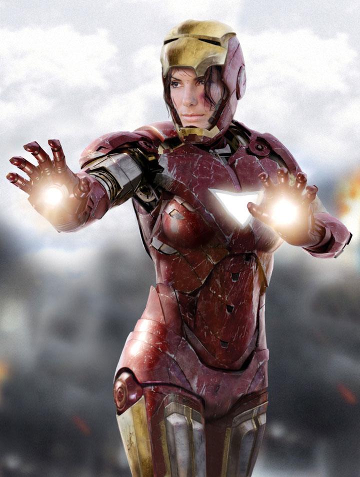 Sandra Bullock / Iron Man
