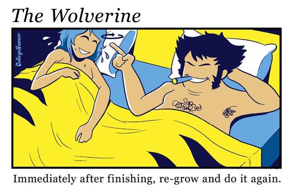 """Façon Wolverine - """"Juste après avoir fini, régénérez-vous puis recommencez."""""""