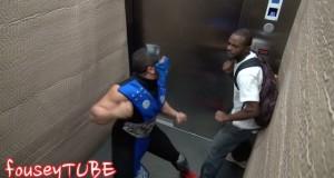 [Vidéo] Mortal Kombat dans l'ascenseur (caméra cachée)