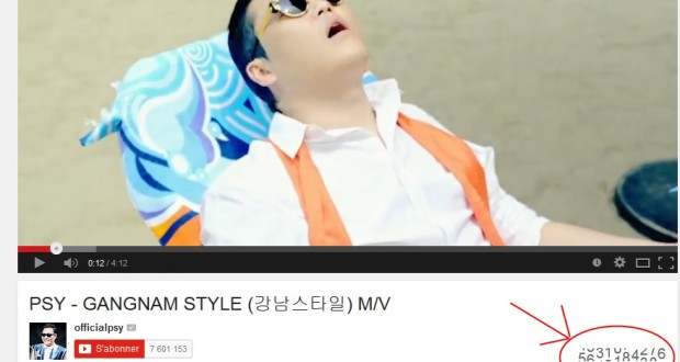Gangnam Style a fait exploser le compteur de YouTube