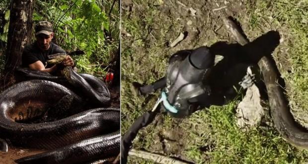 [Vidéo] Paul Rosolie presque avalé par l'anaconda