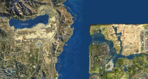 La carte de GTA V comparée à celle de San Andreas
