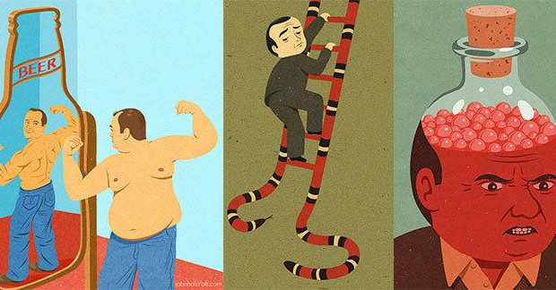 Les illustrations satiriques de john Holcroft