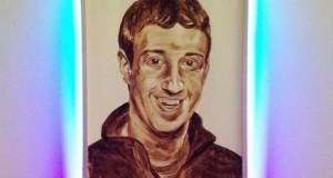 Un artiste réalise le portrait de Mark Zuckerberg avec ses excréments