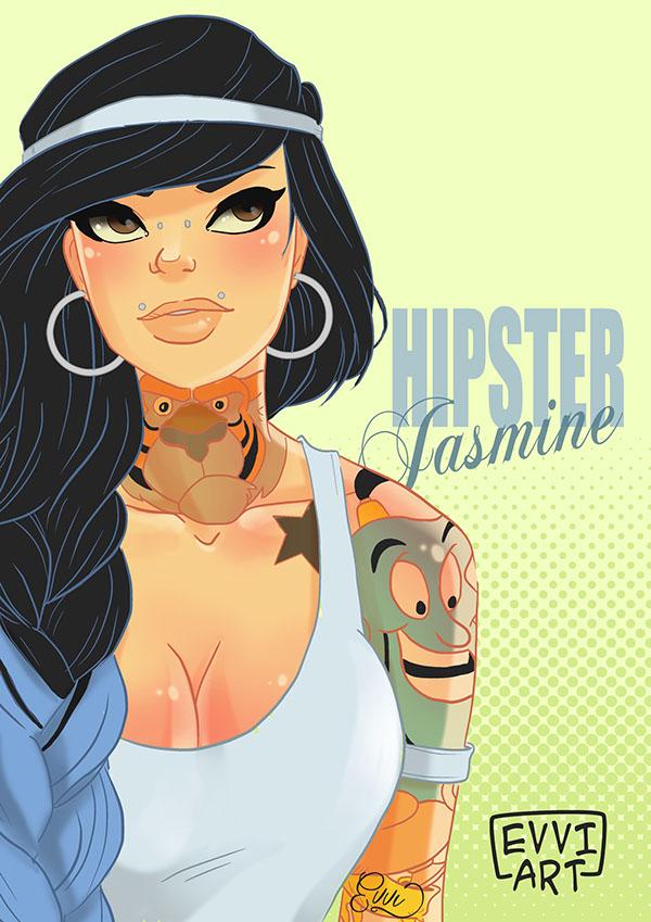 Jasmine en hipster