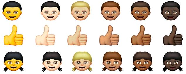 Les emojis de couleur d'Apple