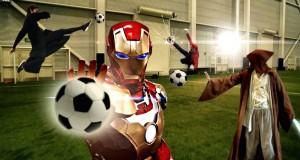 [Vidéo] Une petite partie de foot entre super-héros...