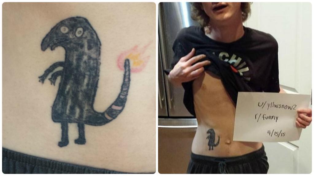 Ivre, il se fait un tatouage Pokémon complètement raté