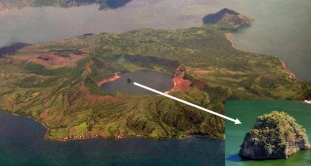 Aux Philippines, il y a une île dans un lac dans une île dans un lac dans une île