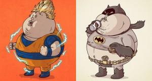 Les personnages de la pop culture en version obèse