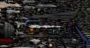 Tous les vaisseaux de fiction regroupés dans une infographie géante