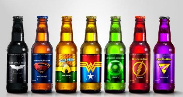 Des bières aux couleurs de La Ligue des justiciers